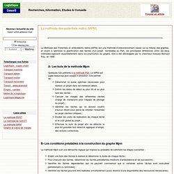 Diagramme, réseau ou méthode des potentiels métra (MPM)
