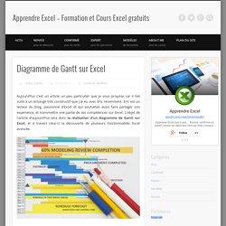 Diagramme de Gantt sur Excel - Modèle à télécharger