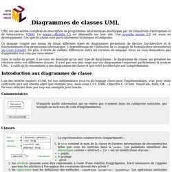 Diagrammes de classes UML