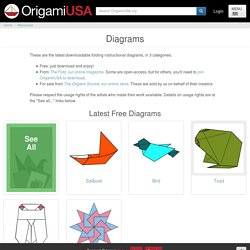 Origami Diagrams for Download
