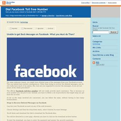 Dial Facebook Toll free Number