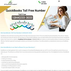 Dial QuickBooks Toll free Number +1(844)233-3033
