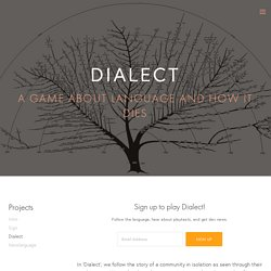 Dialect — Thorny Games