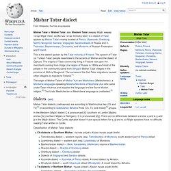 Tatar language