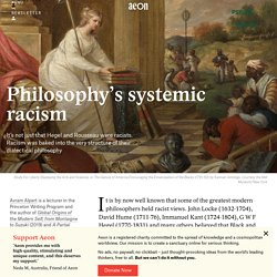 Racism is baked into the structure of dialectical philosophy