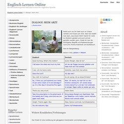 Dialoge: beim Arzt - Englisch Lernen Online