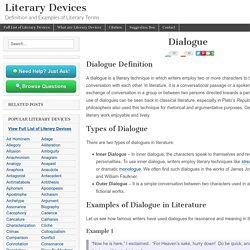 Dialogue - Examples and Definition of Dialogue