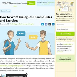 How to Write Dialogue: 8 Tips and Exercises