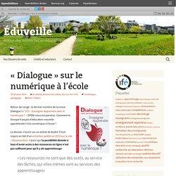 ARTICLE - Dialogue THIBERT - «Dialogue» sur le numérique à l'école