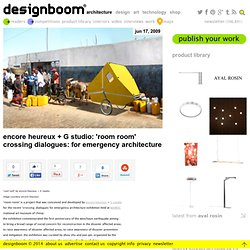encore heureux + G studio: 'room room' - crossing dialogues: for