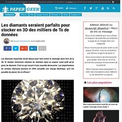 Les diamants seraient parfaits pour stocker en 3D des milliers de To de données
