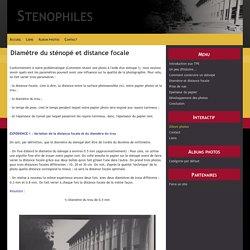 Diamètre du sténopé et distance focale