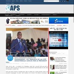 APS - Diamniadio : les travaux de la Cité ministérielle lancés par le président Sall