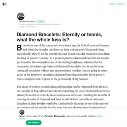 Diamond Bracelets: Eternity or tennis, what the whole fuss is?