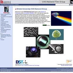 CVD Diamond Group - School of Chemistry - Bristol University