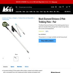 Black Diamond Distance Z-Pole Trekking Poles - Pair - REI.com