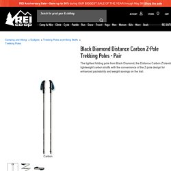 Black Diamond Distance Carbon Z-Pole Trekking Poles - Pair - REI.com