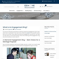 Diamond Engagement Ring And Its Types And Styles With Deep Meaning