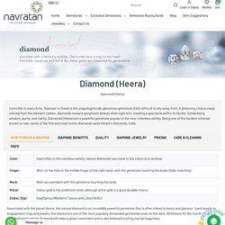 Buy Diamond (Heera)Gemstone Online – Navratan.com