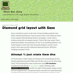 Diamond grid layout with Sass