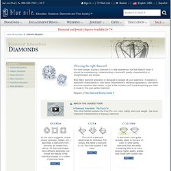 Diamond Education - Cut, Color, Clarity, Carat & Weight - Blue Nile