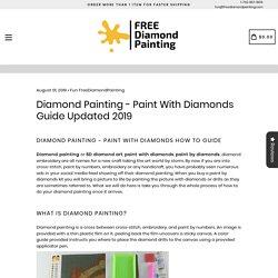 diamond painting supplies