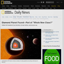 "Diamond Planet Found—Part of a ""Whole New Class?"""