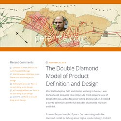 The Double Diamond Model of Product Definition and Design / peterme.com