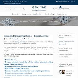 Diamond Shopping Guide - Expert Advice