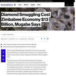 Diamond Smuggling Cost Zimbabwe Economy $13 Billion, Mugabe Says