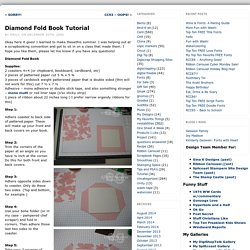 Diamond Fold Book Tutorial « Stamping and Stuff