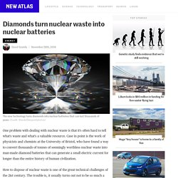 Diamonds turn nuclear waste into nuclear batteries