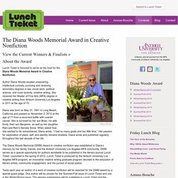 The Diana Woods Memorial Award - Lunch Ticket