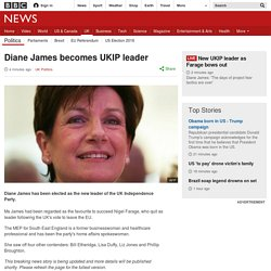 Diane James becomes UKIP leader