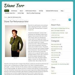 Diane Torr Performance Artist
