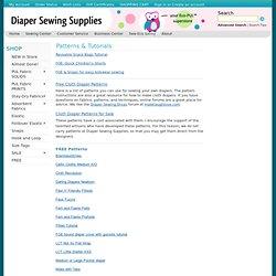 Diaper Patterns, Cloth Diaper Patterns, Free Diaper Patterns