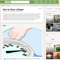 How to Wear a Diaper: 10 Steps (with Pictures