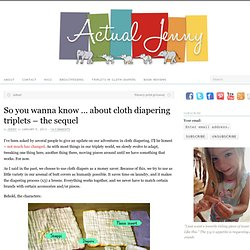 So you wanna know … about cloth diapering triplets – the sequel
