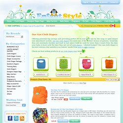 One Size Cloth Diapers Canada - bumGenius, Fuzzibunz, Happy Heinys, GroVia, Baby Kangas