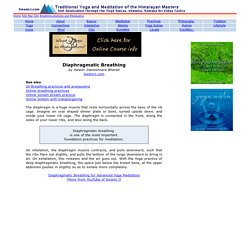 Diaphragmatic Breathing - Essential to Yoga Meditation