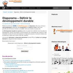 Diaporama – Définir le développement durable - LeWebPédagogique