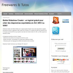 diaporamas exportables en AVI, MKV ou WMV