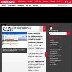 Créer et réussir ses diaporamas Powerpoint - Linternaute.com High-tech