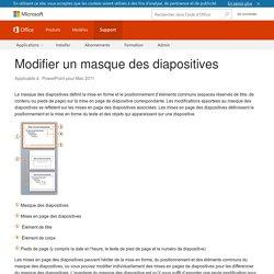 Modifier un masque des diapositives - PowerPoint for Mac