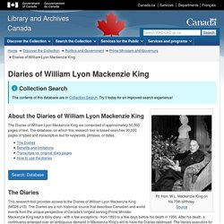 Diaries of William Lyon Mackenzie King - Library and Archives Canada