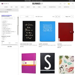 Diaries & notebooks - Books & stationery - Home - Home & Tech