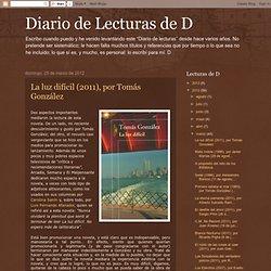 Diario de Lecturas de D: marzo 2012