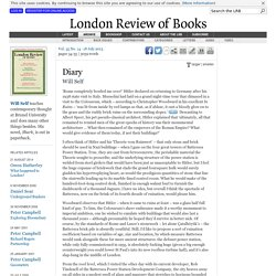 Will Self · Diary: Battersea Power Station · LRB 18 July 2013