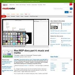 Max/MSP diary part 4: music and maths