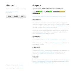 Diaspora* by diaspora